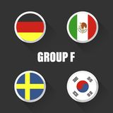Groups football world championship in Russia. Royalty Free Stock Image