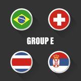 Groups football world championship in Russia. Stock Image