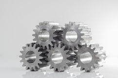 Groups of gears on isolated. Background Royalty Free Stock Image