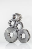 Groups of gears on isolated Royalty Free Stock Photo