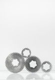 Groups of gears on isolated Stock Image