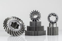 Groups of gears on isolated. Background Stock Photos