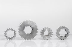 Groups of gears on isolated. Background Royalty Free Stock Photos