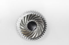 Groups of gears on isolated Royalty Free Stock Photos