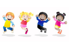 Groups of kids Royalty Free Stock Image