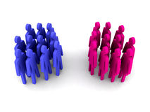 Groups of men and women. Stock Image