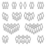 Groups of men and women icons royalty free illustration