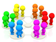 Groups networking Stock Photos