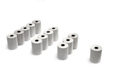 Groups of paper rolls Stock Photo