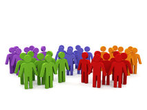 Groups of people. Royalty Free Stock Photos