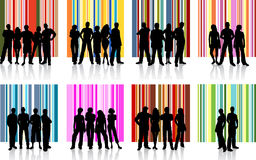 Groups of people stock illustration