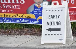Primary Election Campaign Signs Maryland Royalty Free Stock Photography