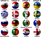 Groups and the state flag Stock Image