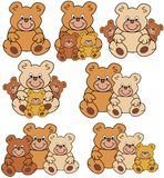 Groups of teddies Stock Images