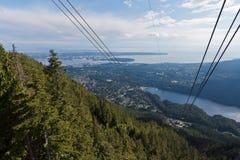 grouse berg vancouver Fotografering för Bildbyråer
