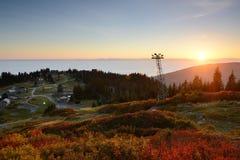 Grouse Mountain Autumn Sunset Stock Image
