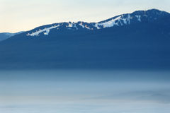 Grouse Mountain Dusk Fog, British Columbia Royalty Free Stock Photos
