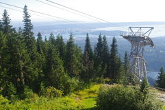 Grouse Mountain. Overlooking Greater Vancouver. North Shore Mountains, Vancouver, Britsh Columbia, Canada Stock Images