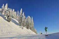 Grouse Mountain Ski Hills Royalty Free Stock Photography