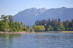 Grouse Mountain and Stanley Park Stock Image