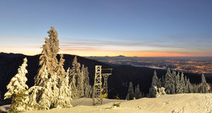 Grouse Mountain sunrise Royalty Free Stock Images