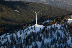 Grouse Mountain Wind Turbine Aerial Stock Photos