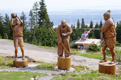 Grouse mountain - Wooden Sportsmen , Vancouver, Canada Stock Images