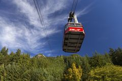 Grouse Skyride Gondola North Shore Mountains Vancouver British Columbia Canada royalty free stock images