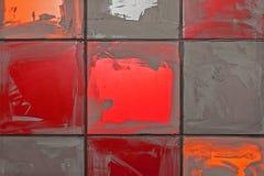 Grout засыхания-вверх на керамические плитки Стоковое фото RF