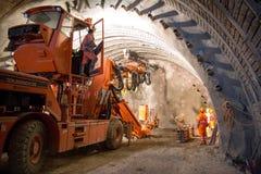 Grouting för tunnelpiperoof Royaltyfri Bild