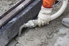 Grouting mortar and tram track laying 2 Stock Images