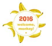Grov bananbakgrund Arkivbilder