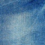 Grov bomullstvilltextur, ljus - jeansbakgrund Royaltyfria Bilder