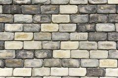 Grov grå tegelstenvägg Royaltyfri Fotografi
