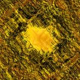 Grov klickslaglängdtextur unik abstrakt design Rengöringsduktapet Tappningstilvägg Svart gul Grungebakgrund kaotiskt royaltyfri illustrationer