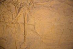 Grov pappers- textur, skrynkligt gammalt papper Arkivbilder