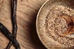 Grov socker och vanilj fotografering för bildbyråer