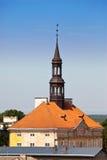 Grov spik av forntida gotisk konstruktion, Narva, Estland Arkivfoton