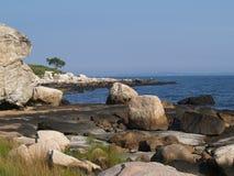 Grov terräng längs havet Royaltyfri Fotografi