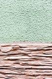 Grova färger för väggtextur två och typer av yttersidor Royaltyfri Foto