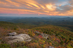 Grova Ridge Overlook arkivbilder