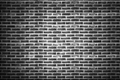 Grova svarta tegelstenväggar Bakgrund för design arkivbild