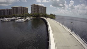 Grove Isle aerial video stock video footage