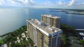 Grove Isle Miami FL. Aerial video of Grove Isle Miami FL stock footage