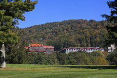 Grove Park Inn. In Asheville, North Carolina in the fall stock images