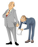 Grovel in  business. Vector illustration of a grovel in  business Stock Image