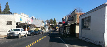 Groveland - liten stad Amerika Royaltyfria Bilder