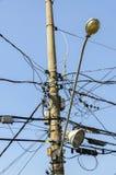 Groviglio dei cavi elettrici Fotografia Stock Libera da Diritti