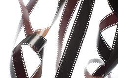 Groviglio del film esposto svolto di 35mm Fotografia Stock Libera da Diritti
