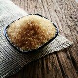 grovkornigt inte förädlat socker för godis Arkivbilder